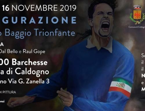 Il grande quadro di Roberto Baggio a Caldogno